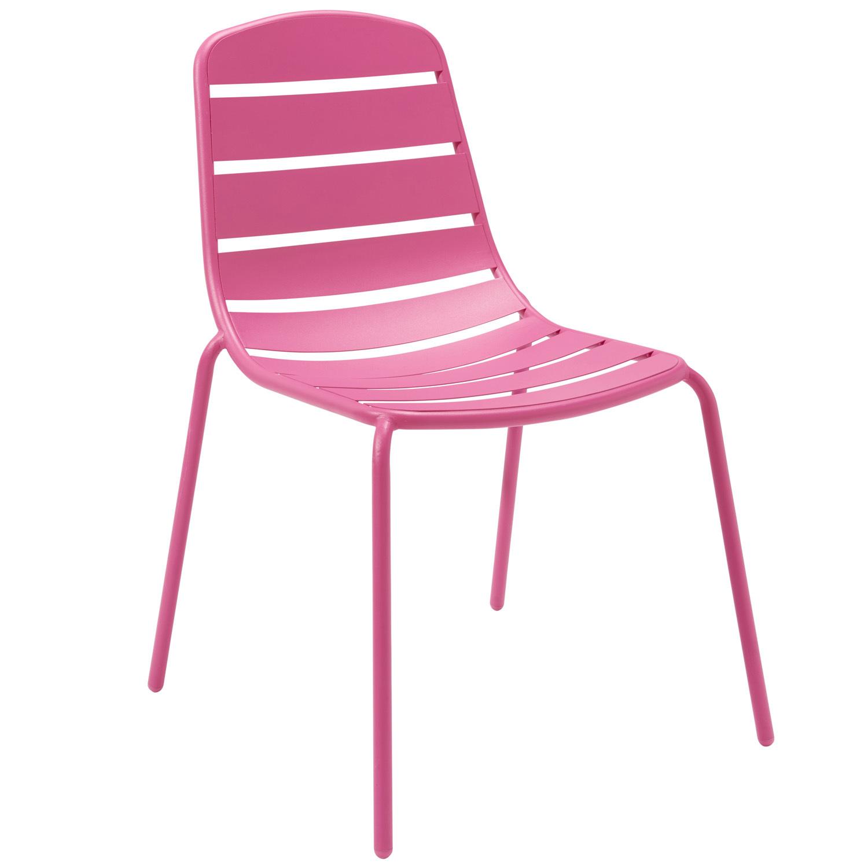 hyba lot de 2 chaises de jardin optimistic m tal rose pas cher achat vente chaises de. Black Bedroom Furniture Sets. Home Design Ideas