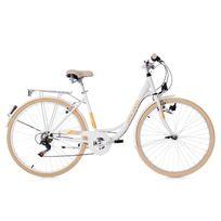 KS CYCLING - Vélo de ville dame 28'' Cantaloupe blanc TC 49 cm Dacapo