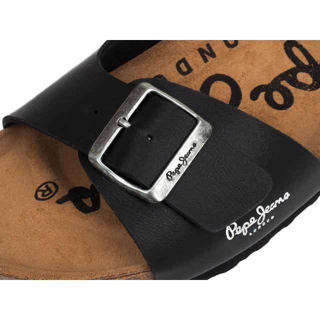 Pepe Jeans - Claquettes mules Bio man black matt Noir 21183 44