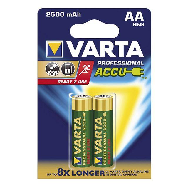 VARTA - varta - lot de 2 piles alcaline type hr6 1.2 volts rechargeables -  5716101402 229b850288af