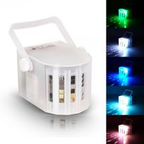Flash - Jeu de lumière Mini Derby blanc à Leds Rgbw 4x3W mode auto/musical/DMX