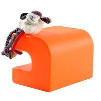 My Note Deco - Module Pouf design - L39xl29xH29cm Kikoo - Orange - Orange