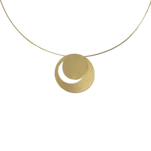 collier argent lune et soleil