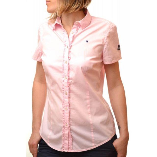 c85a1aadf7ac Gaastra - Chemise rose Whale pour femme - pas cher Achat   Vente Chemise  femme - RueDuCommerce