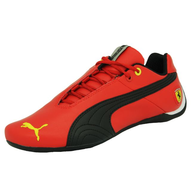 fa8c5f85393 Puma - Future Cat Leather Scuderia Ferrari 10 Chaussures Mode Sneakers  Motorsport Homme Cuir Rouge Noir Jaune - pas cher Achat   Vente Baskets  homme - ...