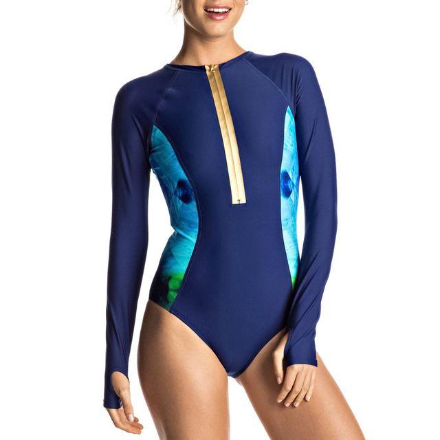 roxy maillot de bain pop surf l s onesie pas cher achat vente maillots de bain rueducommerce. Black Bedroom Furniture Sets. Home Design Ideas