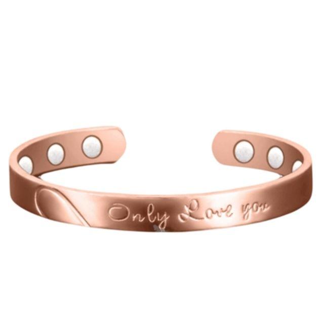 Wewoo - Bracelet rouge L Europe et l Amérique Amoureux Style Ouvert  Environnement Plaquage e0ff19ce7d8