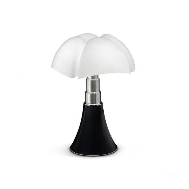 Martinelli Luce Mini Pipistrello Cord-less-lampe Nomade Led H35cm Noir - designé par Gae Aulenti
