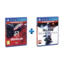 SONY - 2 jeux PS4 HITS : DRIVECLUB + KILLZONE SHADOW FALL