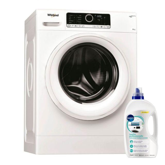 Whirlpool Lave Linge Frontal 8KG A+++ 1400trs/min Tambour 55L 6eme sens Machine à laver hublot