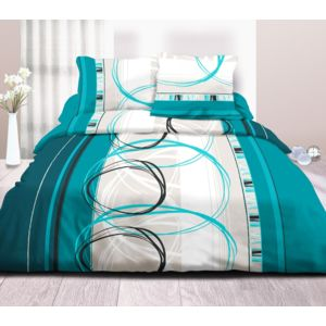 le linge de jules parure drap plat drap housse 140x190 2 t pur coton 57 fils roue l. Black Bedroom Furniture Sets. Home Design Ideas