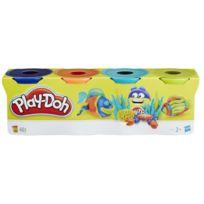 Playdoh - Play-doh 4 Pots Couleurs Tropicales - Bleu. orange. bleu ciel. vert pomme