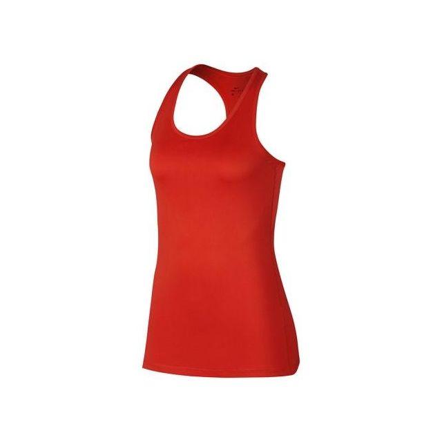 Nike - T-shirt à bretelles Nike Dry Tank Balance 2.0 rouge femme fca60ea89e9c