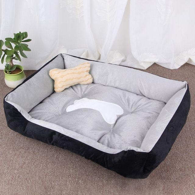 Wewoo Panier pour chien Coussin tapis de chat pour chien, motif chenil doux et doux, taille pour taille: L, 80 × 60 × 15 cm Gr