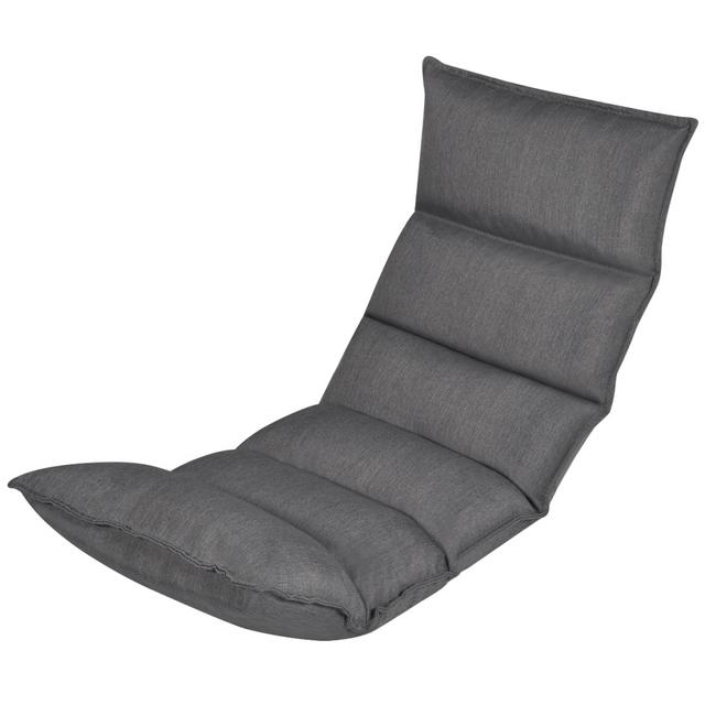 Vidaxl Lit d'appoint/ Sofa de relaxation compacte et pliable en tissu Gris