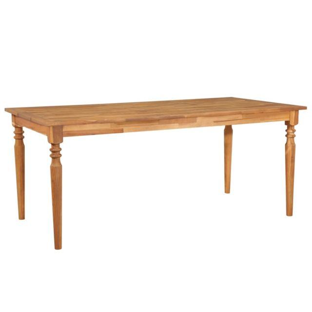 Moderne Tables ensemble Beyrouth Table de salle à manger 170x90x75 cm Bois d'acacia massif