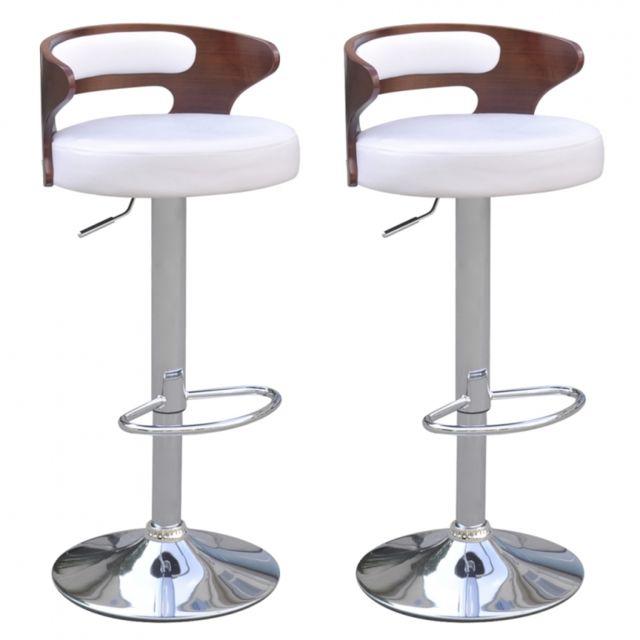 helloshop26 lot de 2 tabourets de bar design simili avec. Black Bedroom Furniture Sets. Home Design Ideas