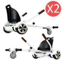 Authentic - Pack Double Hoverkart - 2x Kit Kart Universel Blanc pour Hoverboard