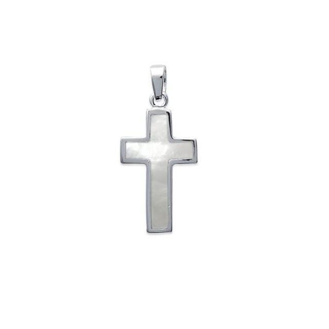 Tousmesbijoux - Pendentif croix en nacre Argent 925 00 Or jaune - pas cher  Achat   Vente Pendentifs - RueDuCommerce 437b86b0f26