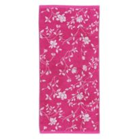 Linnea - Serviette invité 33x50 cm 100% coton 480 g/m2 Floral Rose
