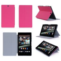 Xeptio - Housse Cuir Style luxe Ultra Slim tablette Sony Xperia Z3 Tablet Compact Sgp611 / Sgp621 rose - Etui coque