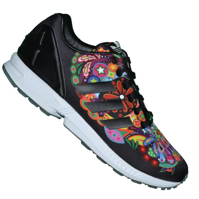 Adidas originals - En Solde Basket Running - Zx Flux 12 - Aq5460 - Noir Multicolore