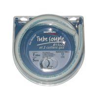Home Gaz - Tuyau gaz ville - D: 15 mm - 1 m + 2 colliers gaz