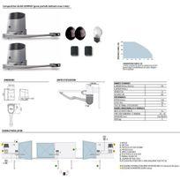 Nice - Kit Motorisation 24V portail 2 battants env. 2,4m Hopp Kit