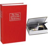 Touslescadeaux - Coffre Fort Dictionnaire - Coloris Rouge