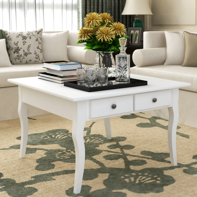 Vidaxl Table basse Acate Blanc
