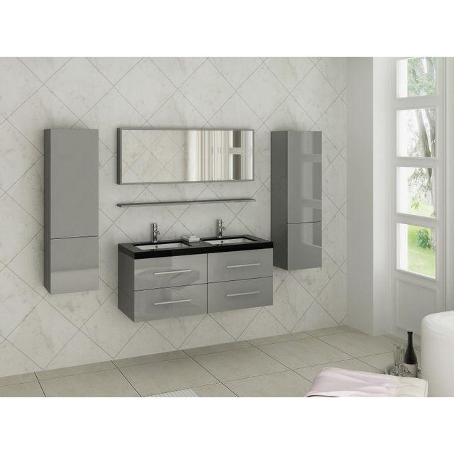 cosy tendance meuble passion 5 vasque noire et blanche 120 47 54 cm pas cher achat vente. Black Bedroom Furniture Sets. Home Design Ideas