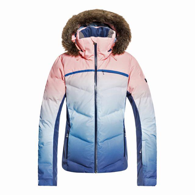 bf7fb5bedf Roxy - Veste de ski Snowstorm Printed Jk - pas cher Achat / Vente Blouson  de ski - RueDuCommerce