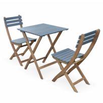 Table pliante bois avec 4 chaises - catalogue 2019 - [RueDuCommerce ...