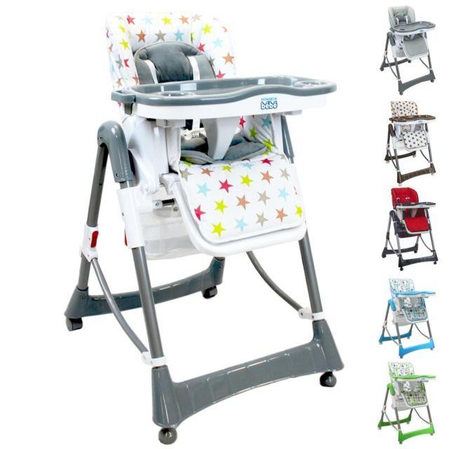 monsieur bebe chaise haute b b pliable r glable hauteur. Black Bedroom Furniture Sets. Home Design Ideas