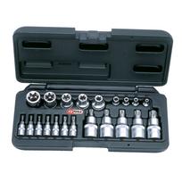Ks Tools Rail de 9 douilles tournevis Torx® 12
