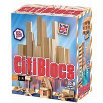 Citi Blocs - 0BCTBSL50 - Blocs De Construction - En Bois Naturel - 50 PiÈCES