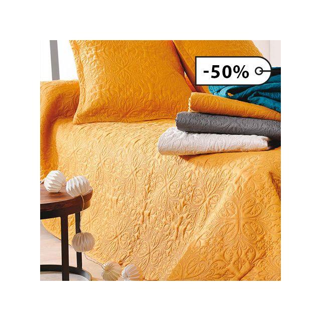 linder couvre lit ceylan 5053 bleu canard 230cm x 250cm pas cher achat vente. Black Bedroom Furniture Sets. Home Design Ideas