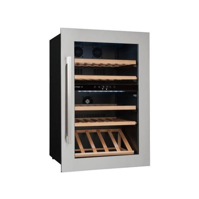 Avintage Cave à vin de service - 2 temp 52 bouteilles - Inox Aci-avi459E - Encastrable