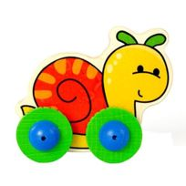 BabyCentre - Hess Wooden Toddler Push Along Snail