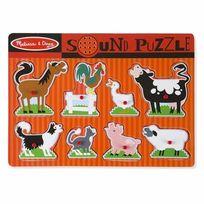 MELISSA AND DOUG - Puzzle son 8 pièces animaux de la ferme