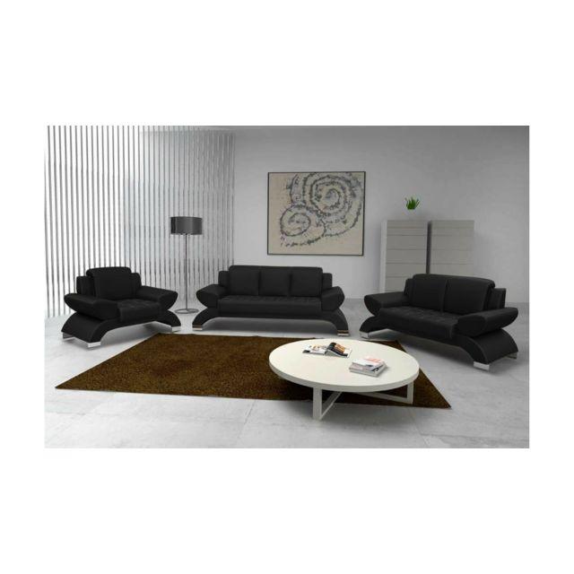 Justyou - Orion Ensemble meubles de salon Noir - pas cher Achat ...
