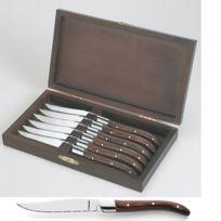 Amefa - Couteau à steak en bois stamina Royal steak par 6 Couteaux à steak par