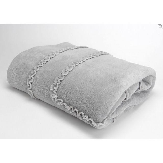 amadeus plaid froufrou gris 130x170 pas cher achat vente couvertures et plaids rueducommerce. Black Bedroom Furniture Sets. Home Design Ideas