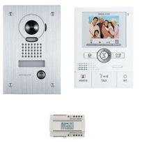 Aiphone - Kit vidéo couleur grand angle, zoom, mémoire image, main libre, platine encastré