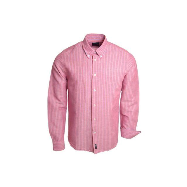 Mcgregor Chemise rose Lenny Alexio pour homme