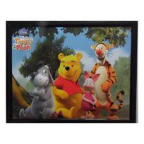 Marque Generique - Tableau Winnie l'Ourson, Porcinet, Tigrou et bourriquet 20 x 25 cm Disney cadre rect deb