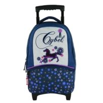 BAGTROTTER - SAC A DOS A ROULETTES MARINE-CYBEL CHEVAL