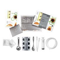 Touslescadeaux - Kit Coffret de Cuisine Moléculaire - 20 sachets additifs - 9 accessoires - Dvd de 50 recettes