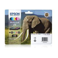 EPSON - T2438 Multipack 6 couleurs ''Eléphant'' - T2428