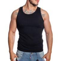Cincjeans - Cinc-Jeans - Débardeur marcel en coton stretch noir